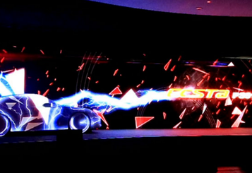 Projection Mapping Launching show